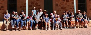 Club members at Wilpena Pound