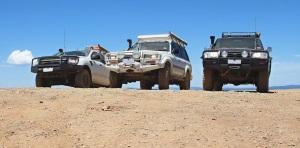 Trucks on Blue Rag