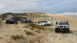 Parked on a dune