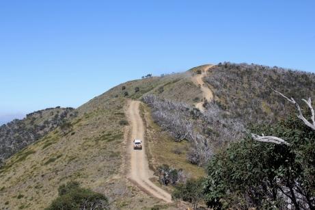 Going up Blue Rag Range Tk
