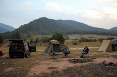 Camp in the valley
