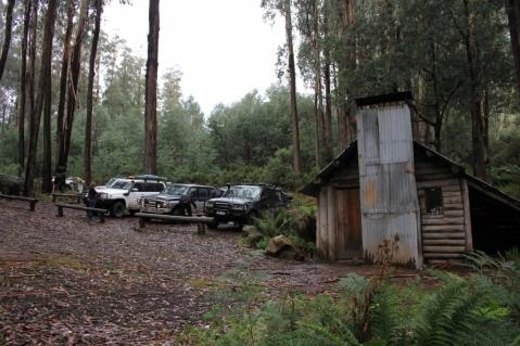 Airing down at Tomohawk hut