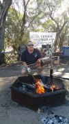 Tony cooking a roast